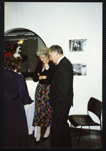 Newton Free Library, 330 Homer St., Newton, MA. 9/14/1991 gala preview, the evening before opening. Nancy & Modesto Criscietello