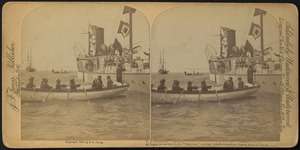 "U.S. Steamship ""Vesuvius,"" Columbus Naval Review, New York Harbor, U.S.A."