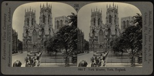 West front and towers of York Minster, York, England