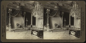 The throne room, Palace of Fontainbleau, France