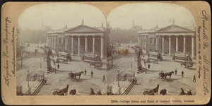 College green and Bank of Ireland, Dublin, Ireland