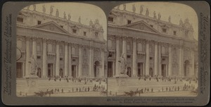 Majestic pillared portico of St. Peter's, Rome