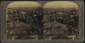 Panorama of Rome, the eternal city, from the dome of St. Peter's Cathedral, Italy