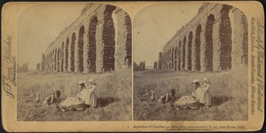 Aqueduct of Claudius (42 miles long, constructed A.D. 52), near Rome, Italy
