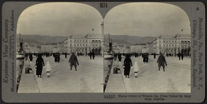 Water front of Trieste, the prize taken by Italy from Austria