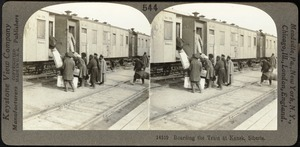 Boarding the train, Kansk, Siberia