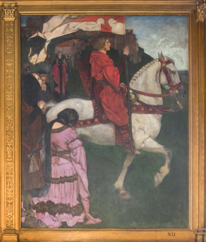 XII. Sir Galahad passes from the land