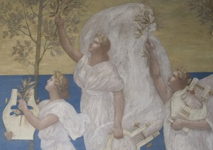 Detail from The Muses of Inspiration hail the Spirit, the Messenger of Light