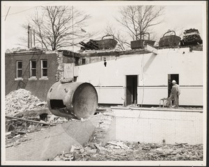 Brookline public bath, demolition of old swimming pool