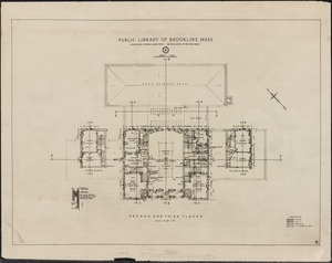 Public Library, 1910 building, floor plans + elevations