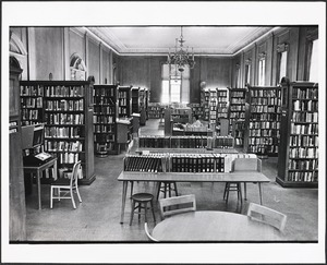 Public Library, reference room. Mary Flanagan, Ref. Dept.