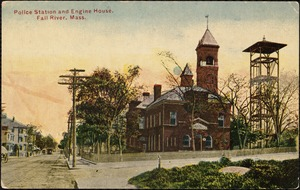 Police station and engine house, Fall River, Mass.