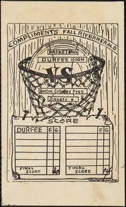 Basketball, Durfee High vs. Boston College Prep, 1906