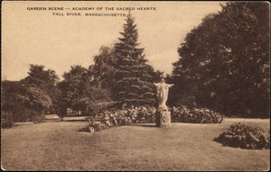Garden scene-Academy of the Sacred Hearts, Fall River, Massachusetts