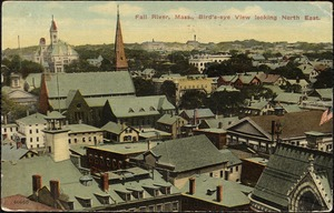 Fall River, Mass. Bird's eye view looking North East