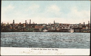 A view of Fall River from the bay