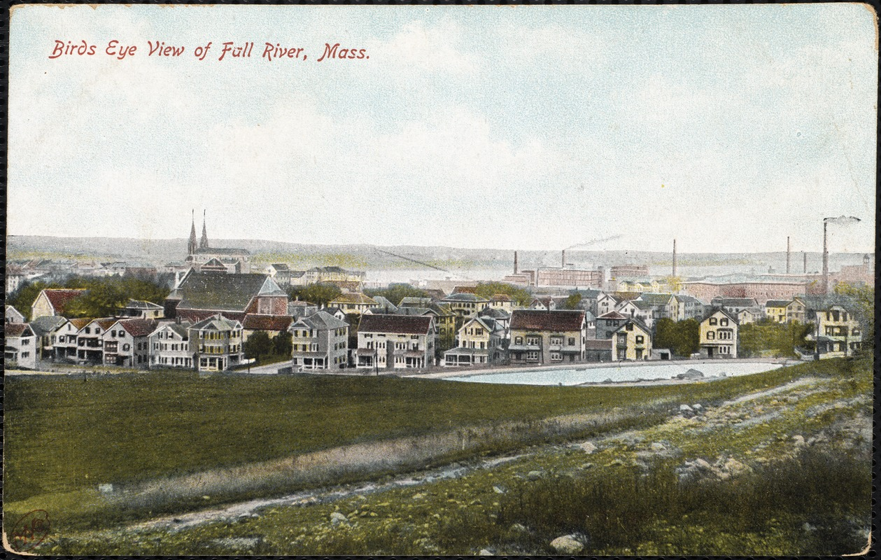 Birds eye view of Fall River, Mass.