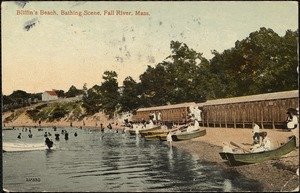 Bliffin's Beach, bathing scene, Fall River, Mass.