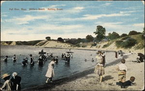 Fall River, Mass. Bliffin's Beach, bathing scene