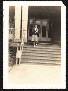 Yours truly on the steps of Miller Hall - on the way to class. Evelyn Orlowsky