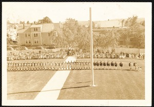 Class Day exercises - class of '42 on the lawn.