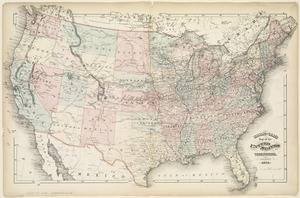 Walling and Gray's map of the United States and territories