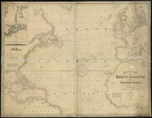 General chart, of the North Atlantic, or Western Ocean, from the equator to 62° north latitude, according to the latest, surveys and observations