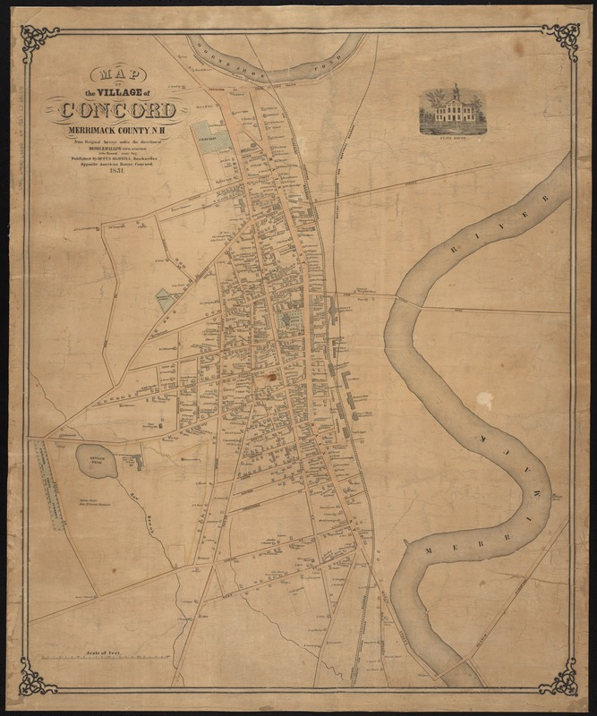 Map of the village of Concord, Merrimack County, N.H
