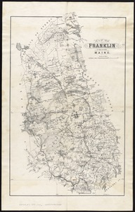Map of Franklin County, Maine