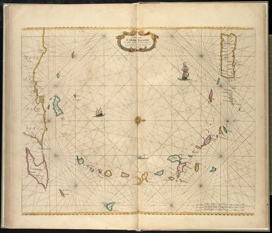 A chart of the Caribe islands