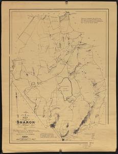 A map of the town of Sharon, Mass. (formerly a part of Stoughton)