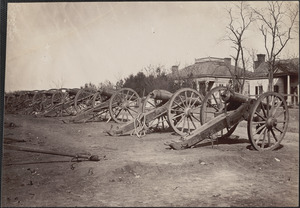 Artillery at Chattanooga captured at Missionary Ridge