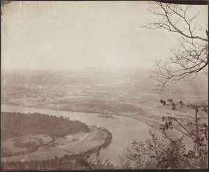 Chattanooga from Lookout Mountain, Tennessee River from Lookout Mountain no 2