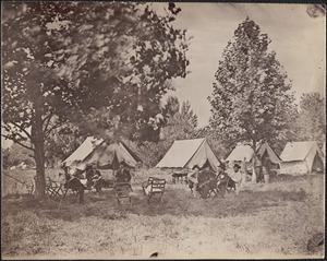 General Grant and staff in field