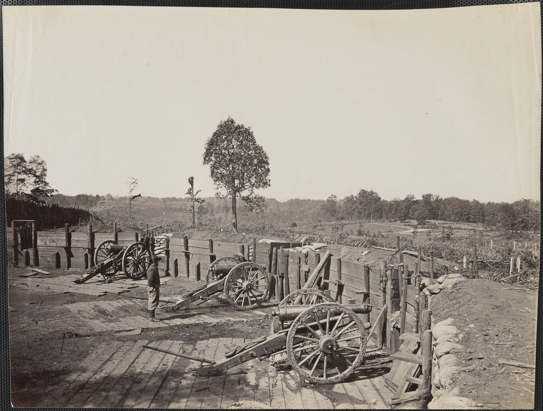 Confederate fort in front of Atlanta