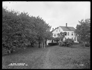 Wachusett Reservoir, James Houghton's buildings, on the southerly side of Holden Street, from the southeast, Oakdale, West Boylston, Mass., Aug. 12, 1898