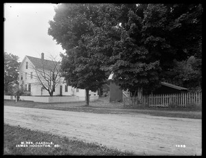 Wachusett Reservoir, James Houghton's buildings, on the southerly side of Holden Street, from the northwest, Oakdale, West Boylston, Mass., Aug. 12, 1898