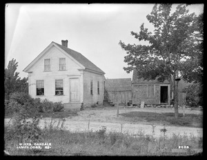 Wachusett Reservoir, James Dorr's buildings, on the northerly side of Laurel Street, from the south, Oakdale, West Boylston, Mass., Aug. 18, 1898
