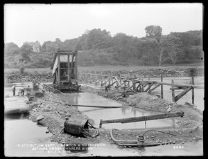 Distribution Department, Southern High Service Pipe Line, Section 24, 20-inch pipe under Charles River, Newton; Watertown, Mass., Jul. 9, 1898