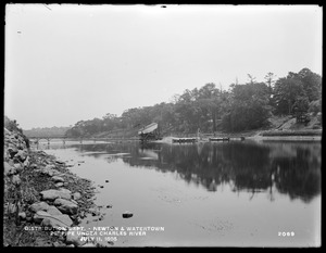 Distribution Department, Southern High Service Pipe Line, Section 24, 20-inch pipe under Charles River, Newton; Watertown, Mass., Jul. 11, 1898