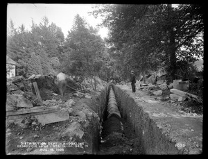Distribution Department, Southern High Service Pipe Line, Section 19, station 14+50, Reservoir Lane, Brookline, Mass., Aug. 16, 1898