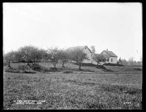 Wachusett Reservoir, James Roach's buildings, on the easterly side of Prospect Street, from the northeast, West Boylston, Mass., Oct. 7, 1898