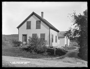 Wachusett Reservoir, James Roach's buildings, on the easterly side of Prospect Street, from the southwest, West Boylston, Mass., Oct. 7, 1898