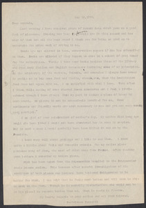 Sacco-Vanzetti Case Records, 1920-1928. Correspondence. Bartolomeo Vanzetti to Irene Benton, May 16, 1923. Box 39, Folder 21, Harvard Law School Library, Historical & Special Collections