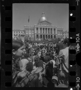 Anti-war protest at the Massachusetts State House