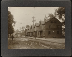 Galen Street row houses -- facing South on west side