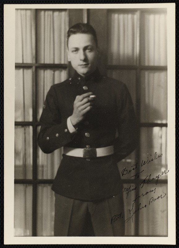 Poor, John, Private (portrait of young man in uniform)
