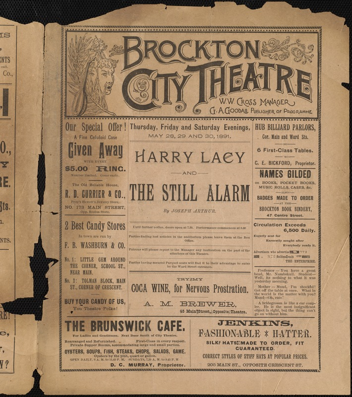 Harry Lacey and the still alarm