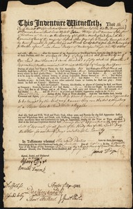 Document of indenture: Servant: Campbell, James. Master: Dodge, James. Town of Master: Boston