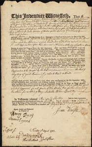 Boston (Mass.) Overseers of the Poor Indentures, 1734-1805